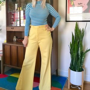 Vintage 70s striped turtleneck shirt XXS